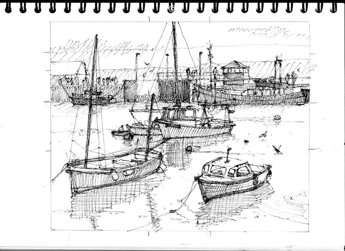 Sketch sketchbook pen ink